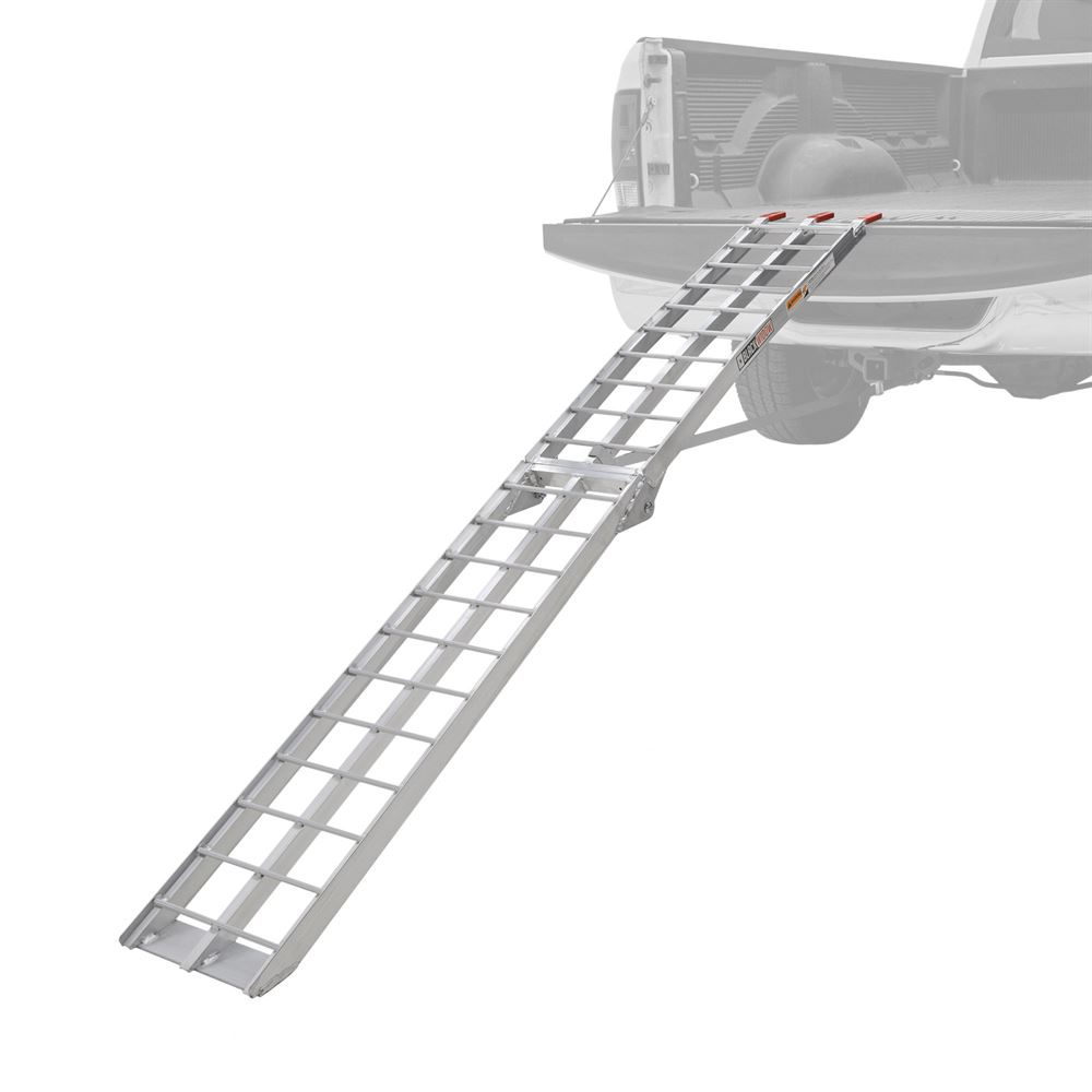 AFL-9012 Black Widow Aluminum Folding Arched Single Runner Motorcycle Ramp