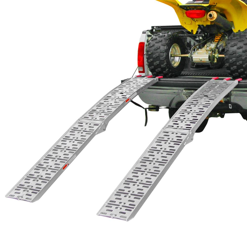 AFP-9012-2 7 5 L Plate-Style Aluminum Folding Arched Dual Runner ATV Ramps