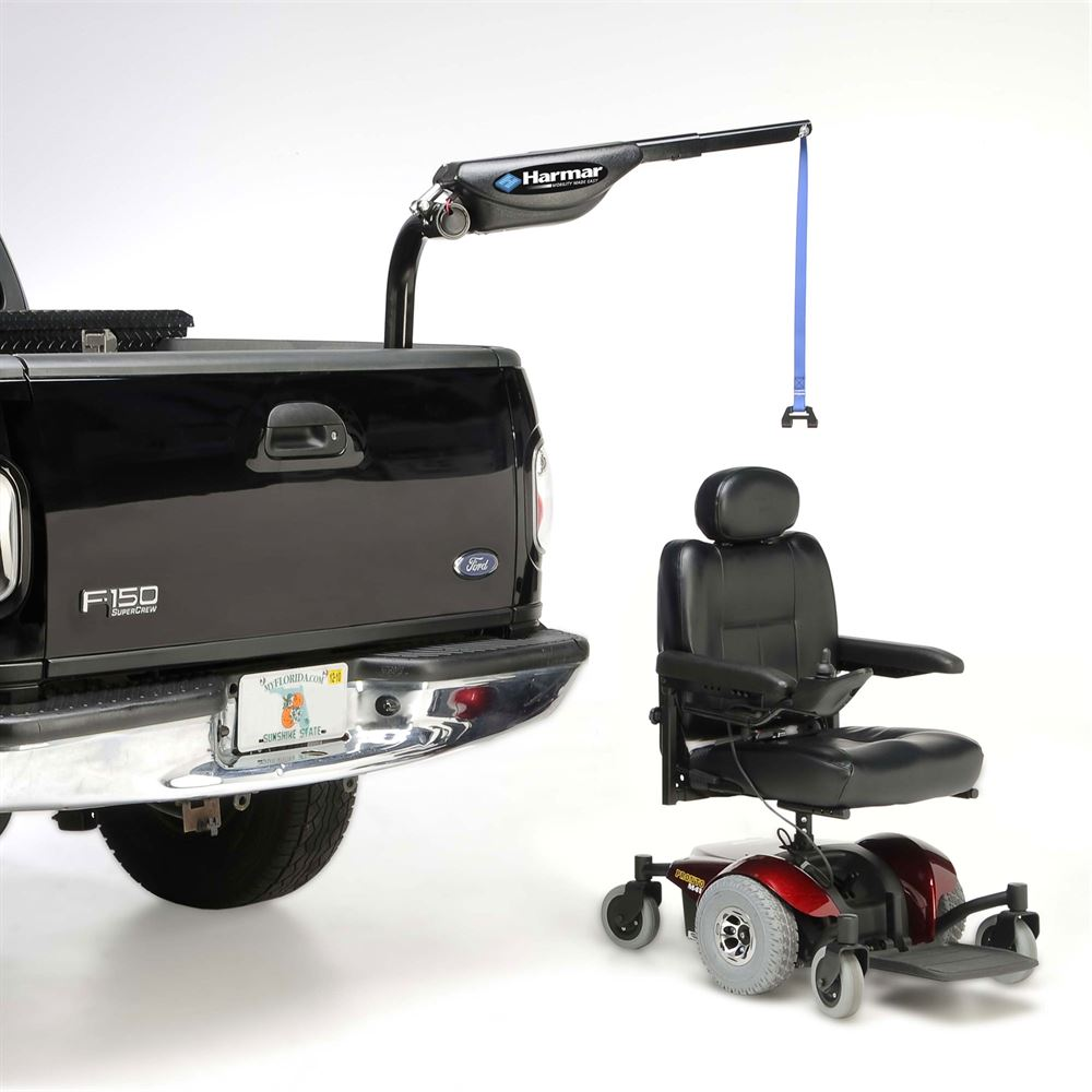 Harmar axis ii electric inside vehicle power chair for Motorized wheelchair lifts for cars
