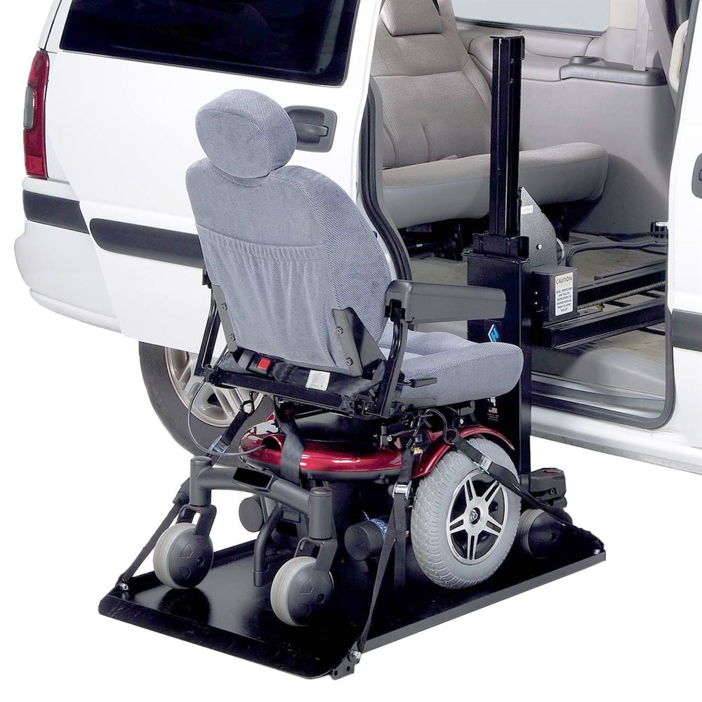 Harmar electric side loading vehicle power chair scooter for Motorized wheelchair lifts for cars