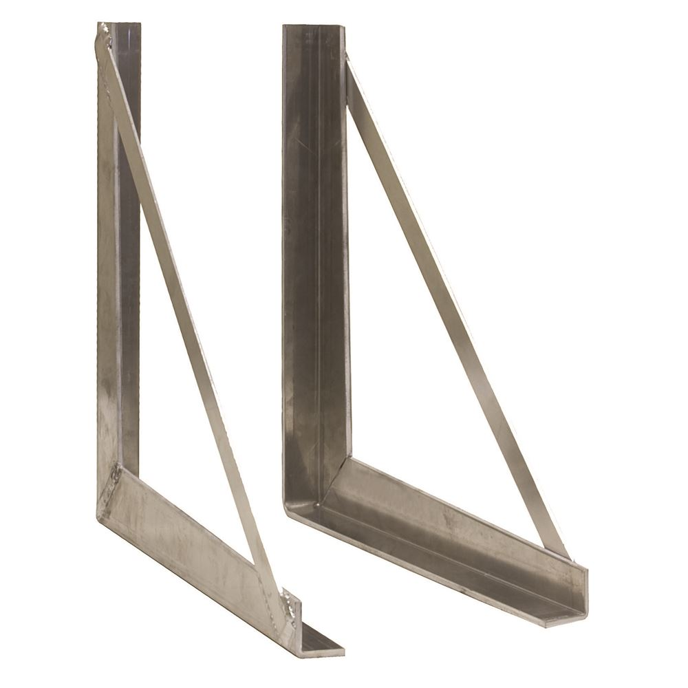 AMWB Buyers Products Aluminum Semi-Trailer Toolbox Mounting Brackets