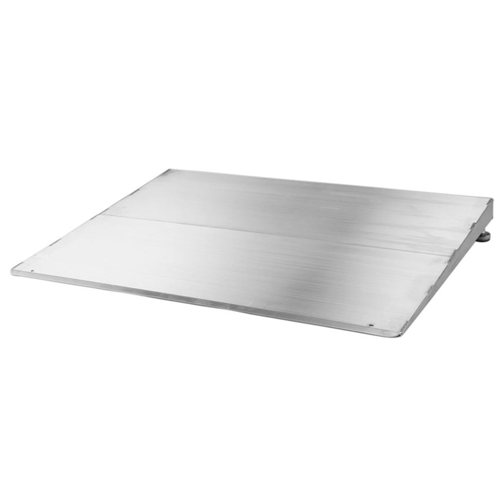 ATH1232 12 L x 32 W - PVI Aluminum Adjustable Self-Supporting Threshold Ramp