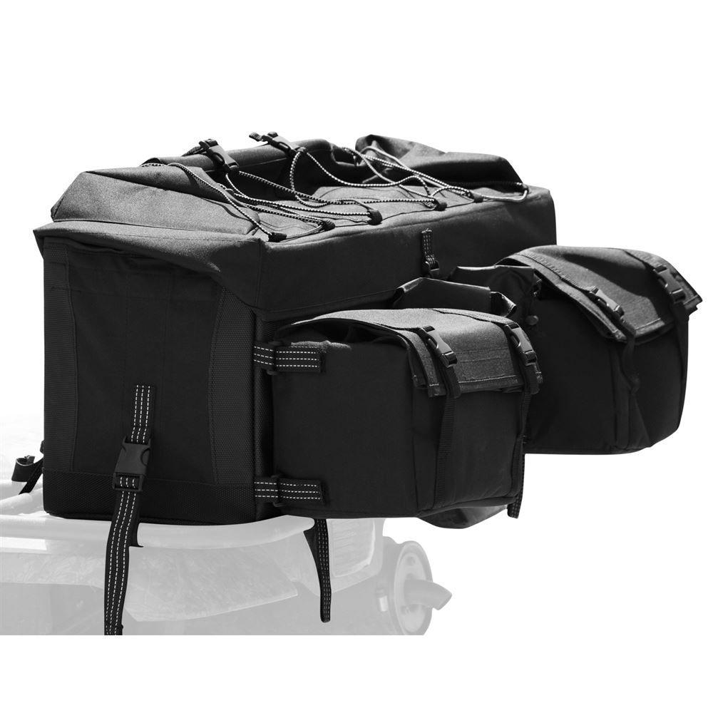 ATV-RBG-9030-BK Black ATV Cargo Rear Rack Gear Bag