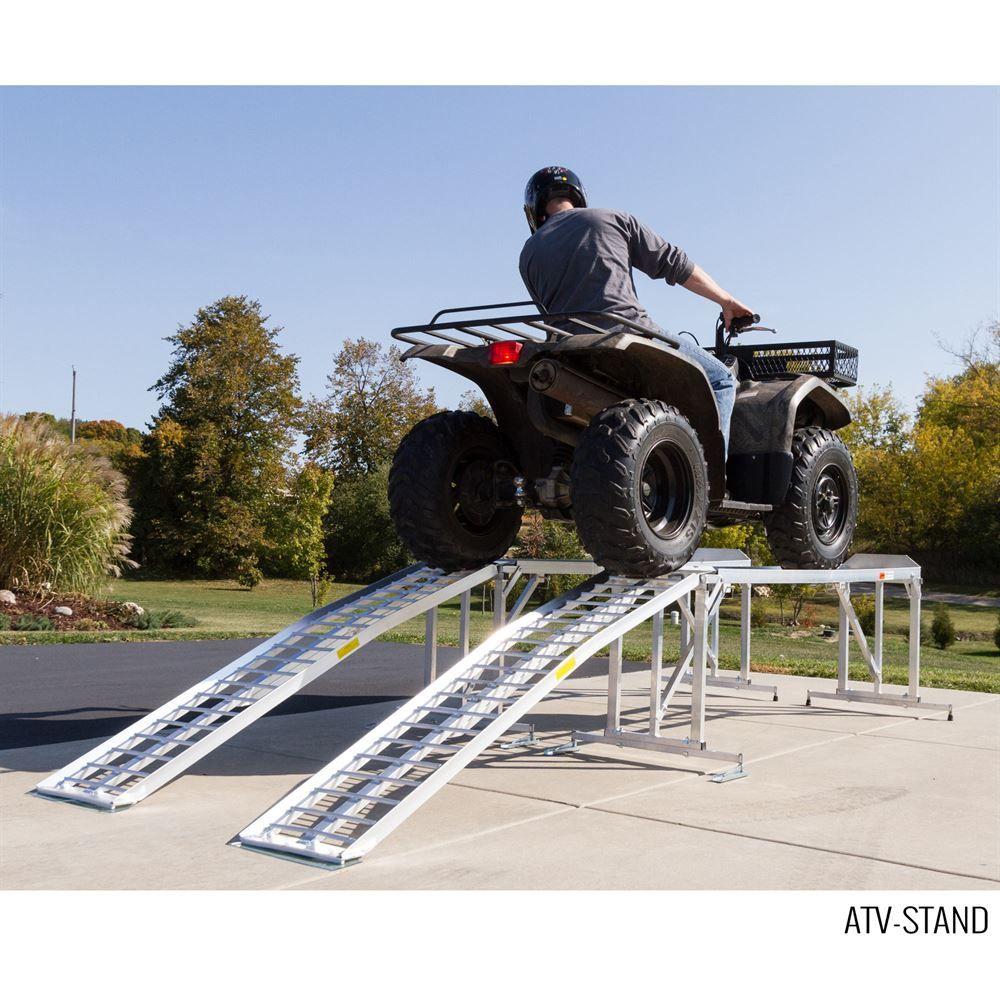 Aluminum Atv Ramps >> Aluminum ATV & Lawn Tractor Stand - 1,800 lb Capacity ...