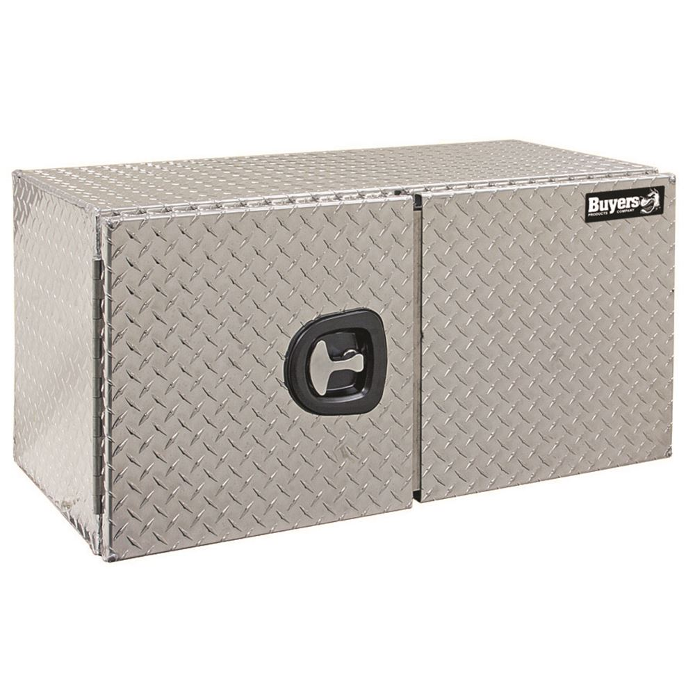 AUDBDDT Buyers Products Aluminum Double Barn Door Underbody Toolbox with Three-Point Latch