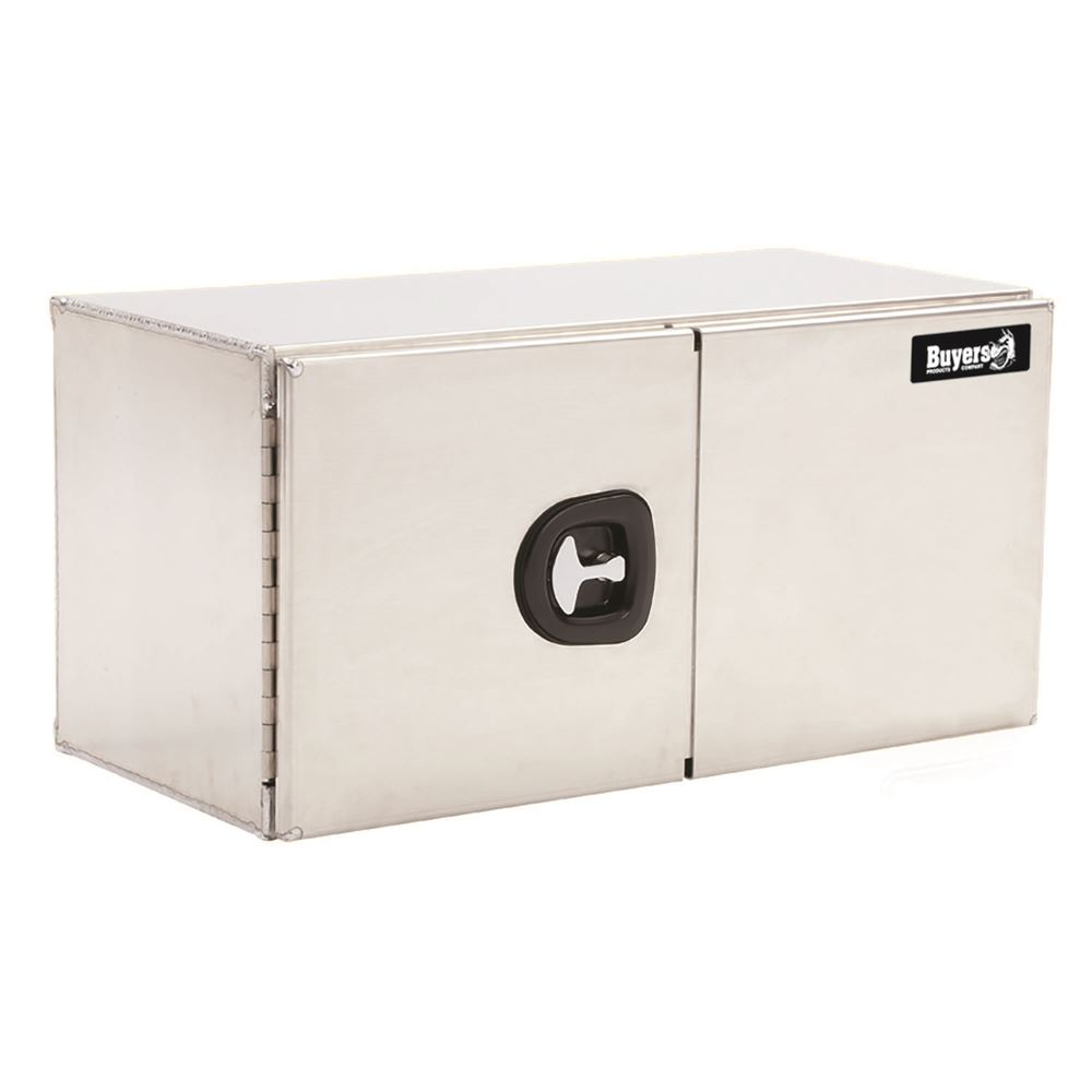 AUDBDS Buyers Products Brushed Aluminum Double Barn Door Underbody Toolbox with Three-Point Latch