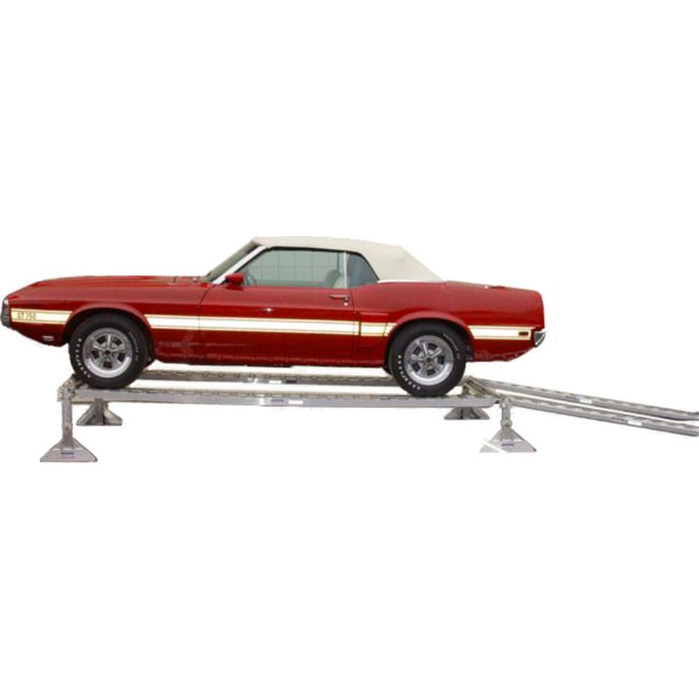 AUTO-DISPLAY-RAMP Extra-Long Aluminum Car Service Ramps  Display Stand- 3000 lbs  5000 lbs per axle Capacity