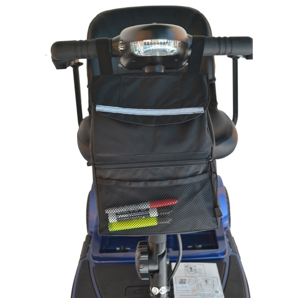 B4221 Deluxe Mobility Scooter Tiller Basket - 12 L x 9 W x 3 D