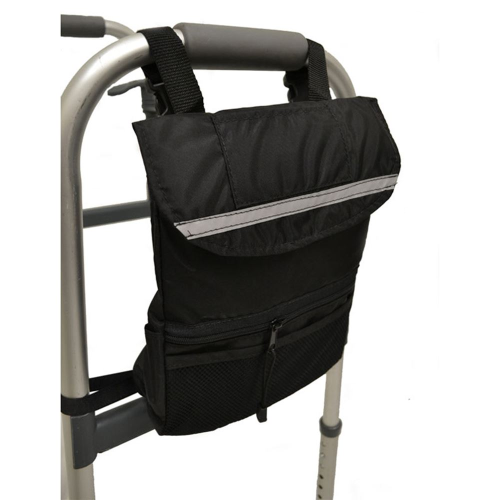 B5421 Medical Walker Bag - Deluxe Side Bag - 9 L x 12 W x 3 H