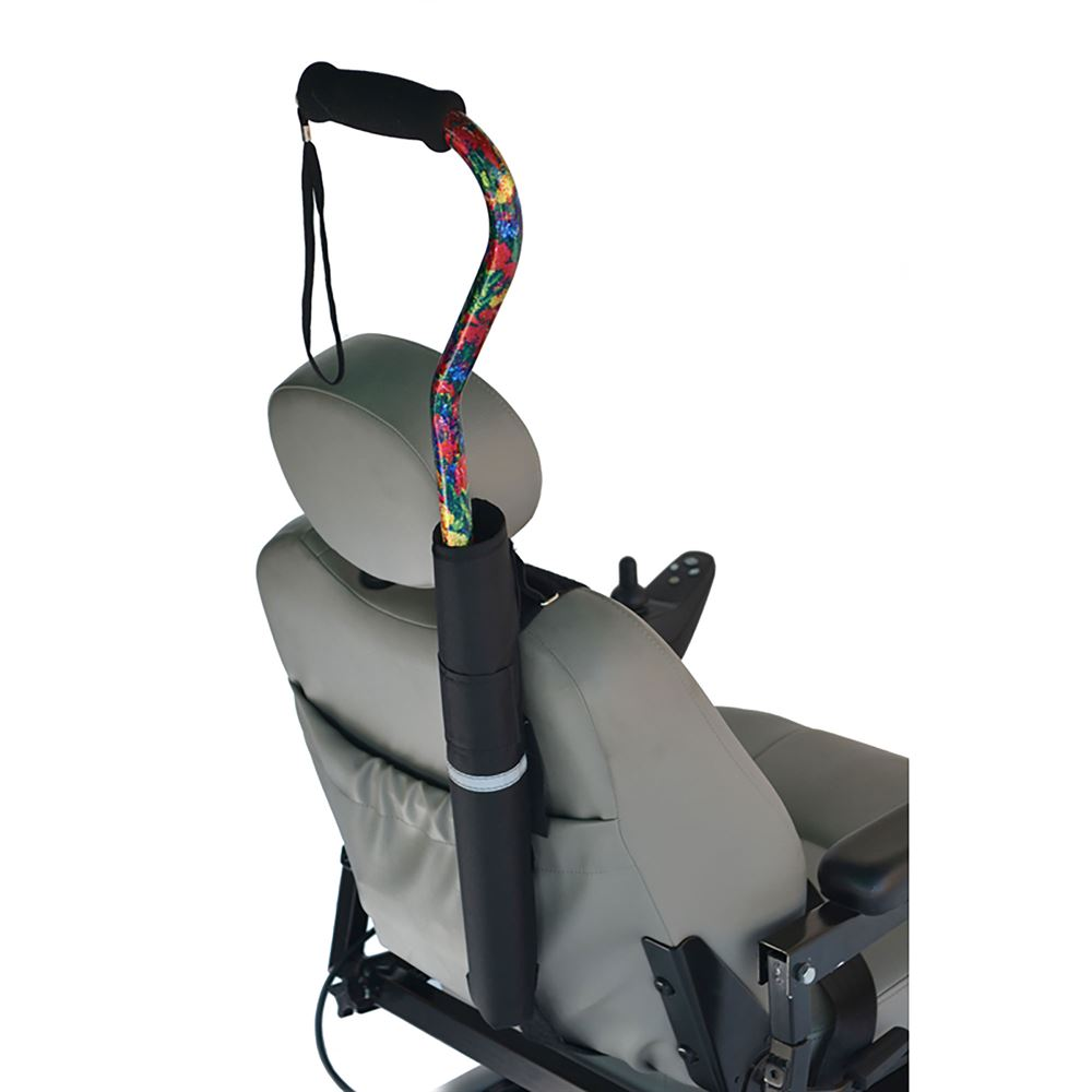 B6212 High Quality Wheelchair Cane Holder For Wheelchairs Or Scooters Without Push Handles