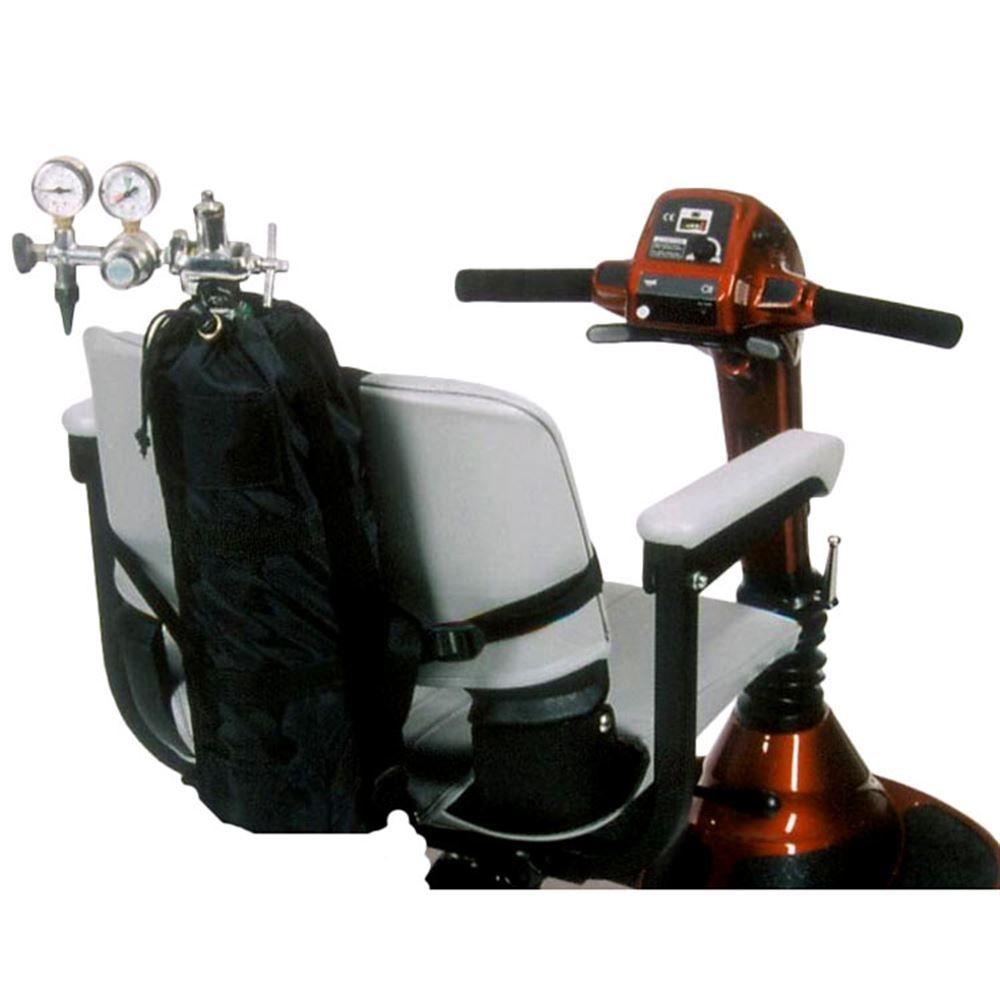 B6221 WO Push Handles - Wheelchair Small Oxygen Tank Holder