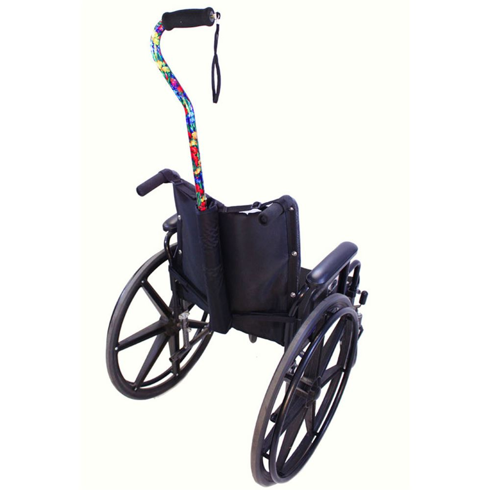 B6312 High Quality Wheelchair Cane Holder for Manual Wheelchairs With Push Handles
