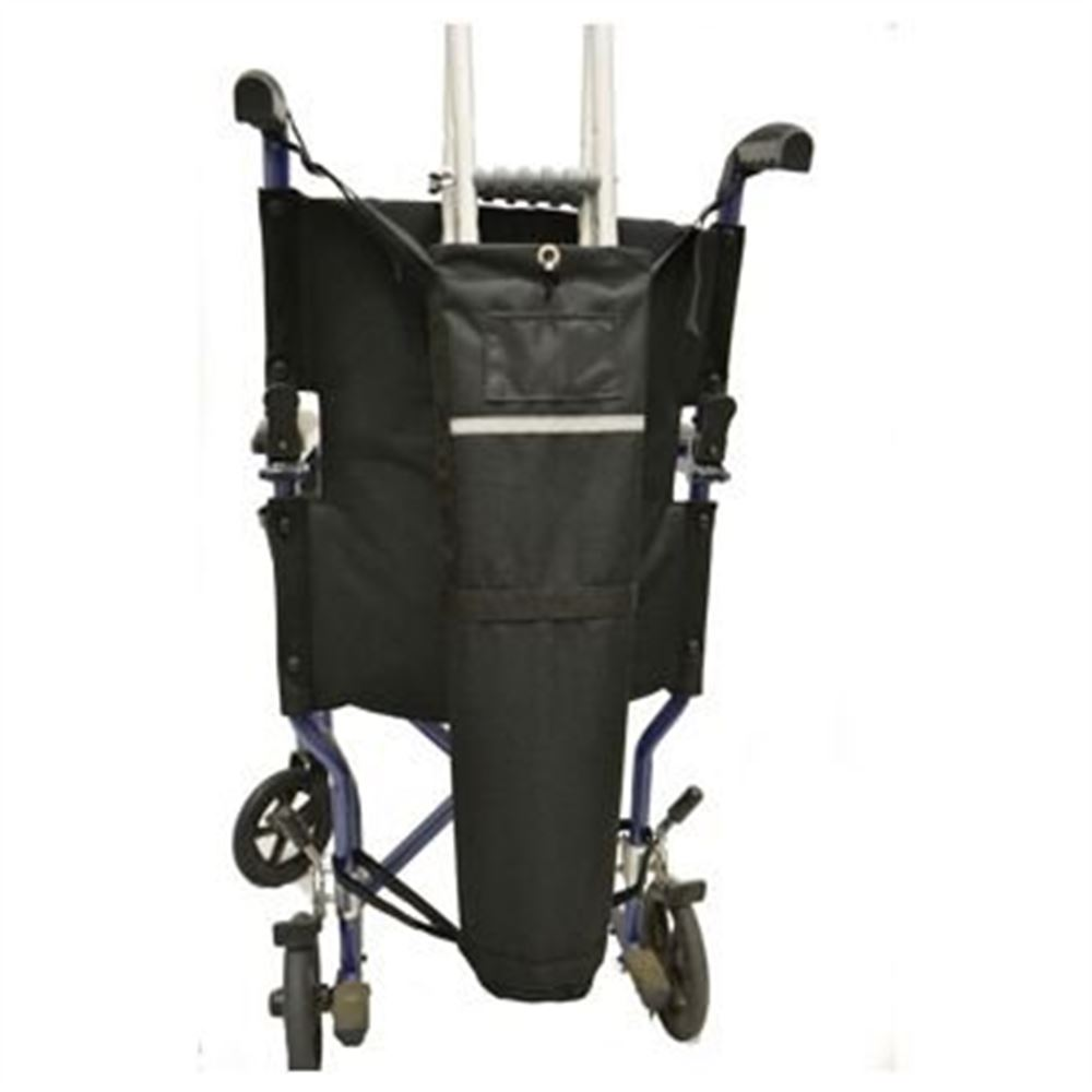 B6313 With Push Handles - Crutch Carrier Bag for Wheelchairs