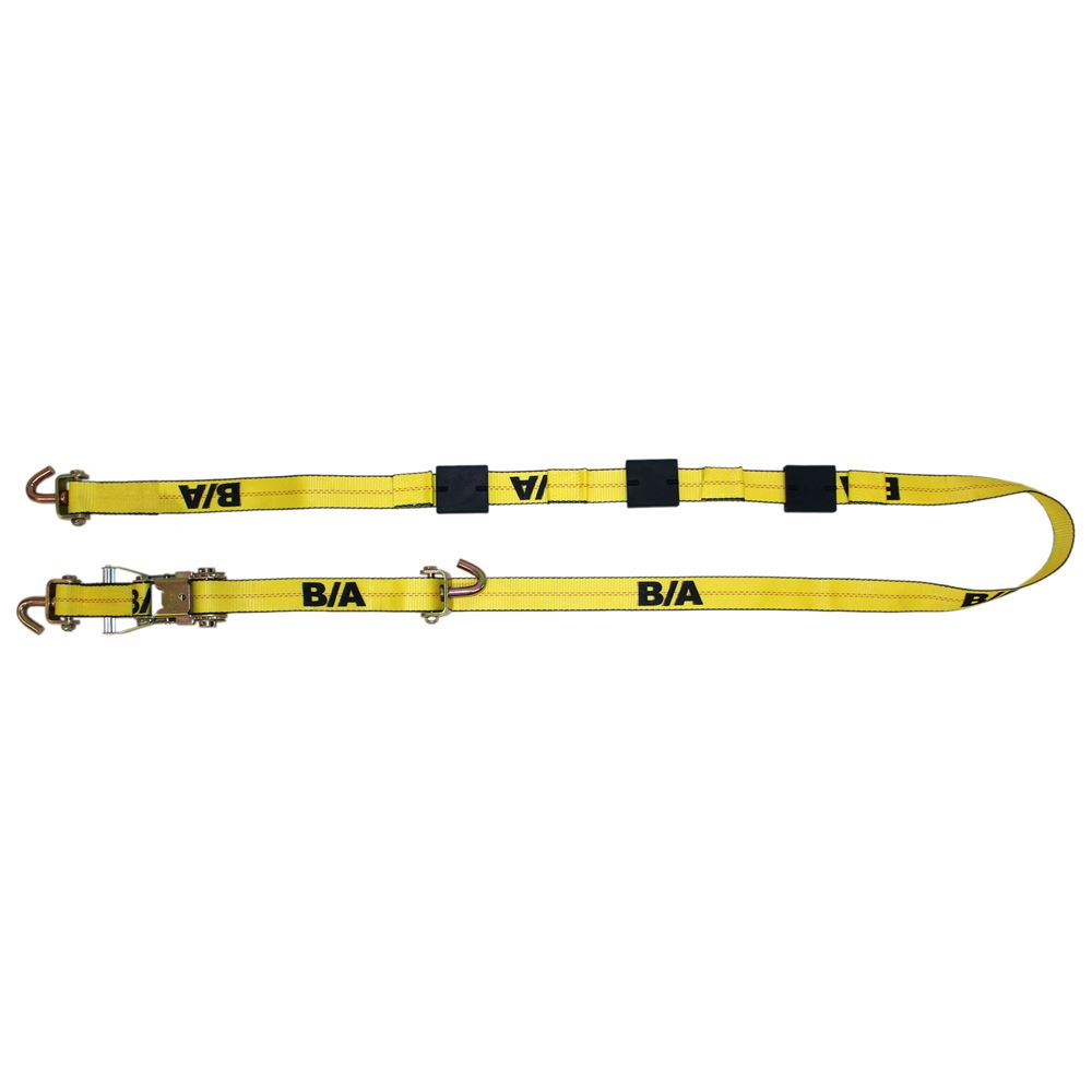 BA-SJL120 Single BA Products 2 x 10 Ratchet Tie-Down Assembly with Long Swivel J Hooks