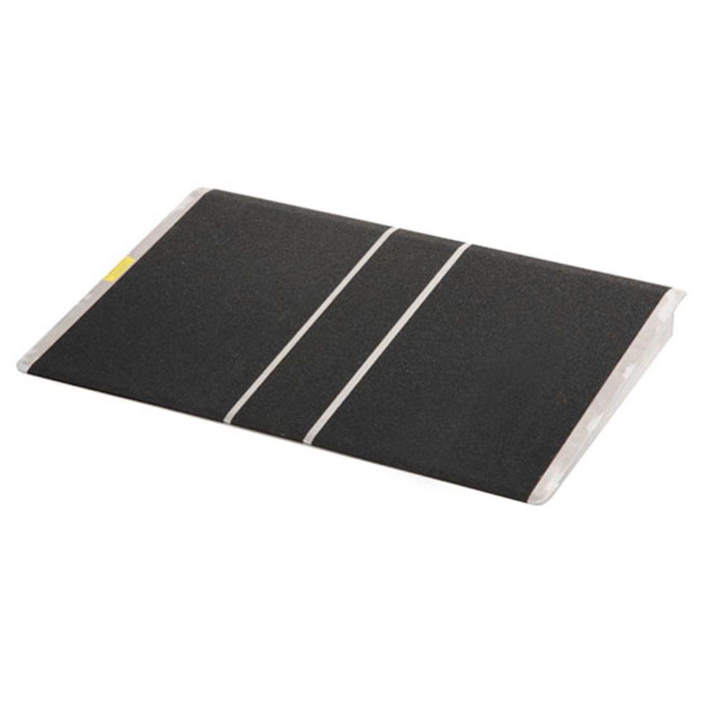 BAR2436 24 L x 36 W - PVI Aluminum Solid Bariatric Threshold Ramp - 800 lb Capacity
