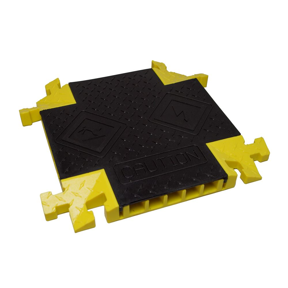 BB5X-125-T-BY 5-Channel 4-Way Cross Bumble Bee Cable Protector for 1-14 Diameter Cables