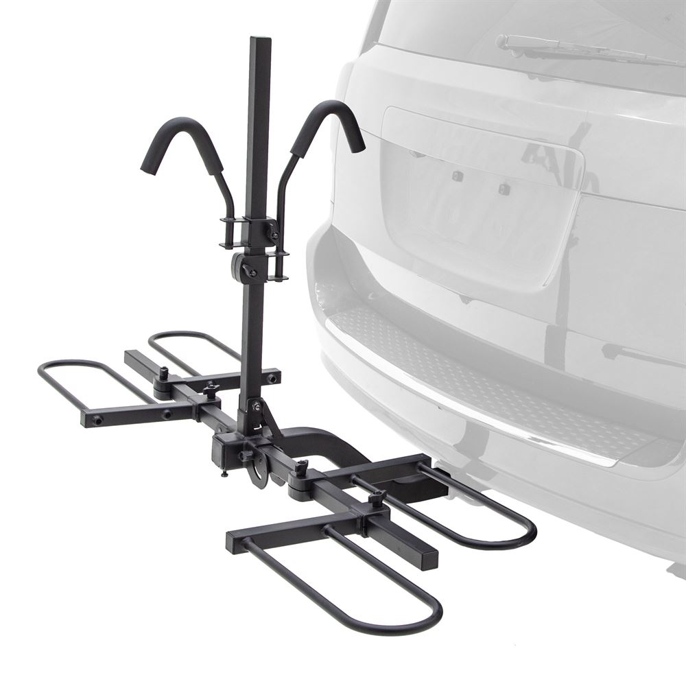 BC-7845-2-EF Elevate Outdoor Hitch-Mounted Bike Rack for E-bikes and Fat Tire Bikes - 2 Bike