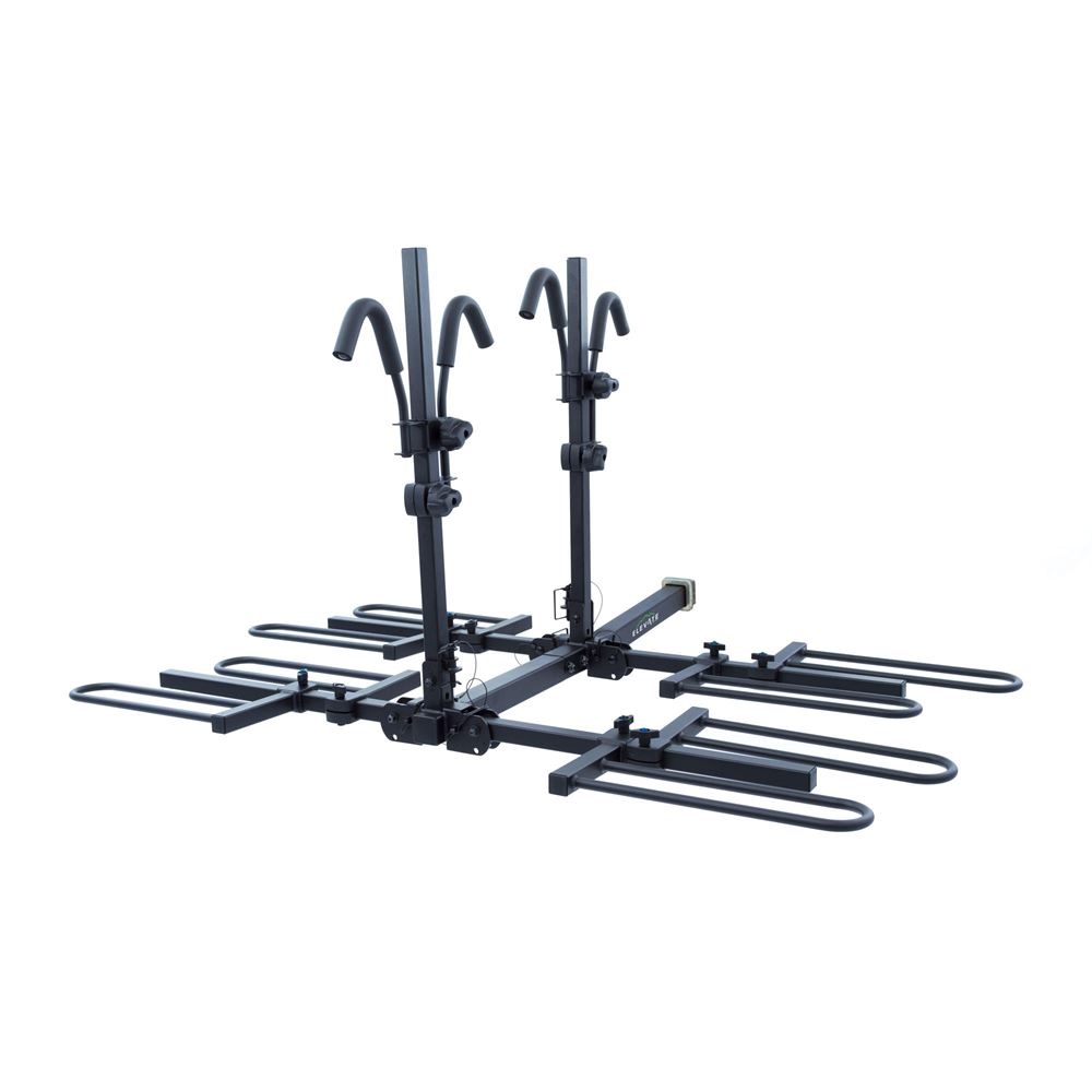 BC-7845-4 Elevate Outdoor Tray-Style Hitch Bike Rack - 4 Bike