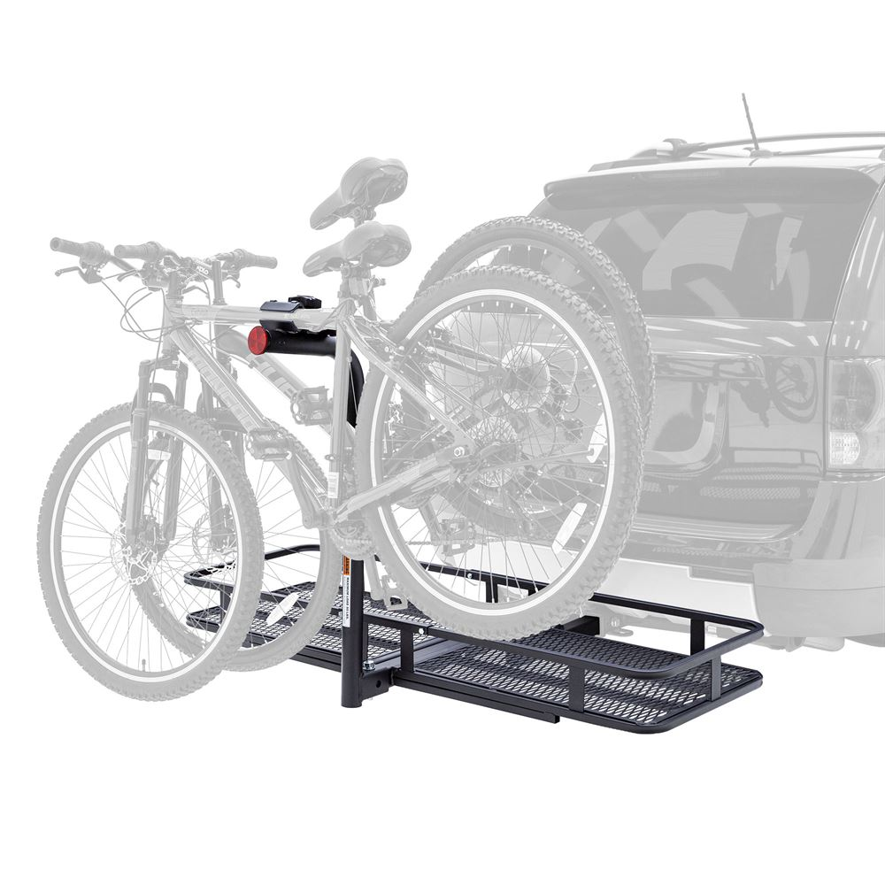 BCCB-1169-2 Elevate Outdoor Steel Basket Cargo Carrier with 2-Bike Rack