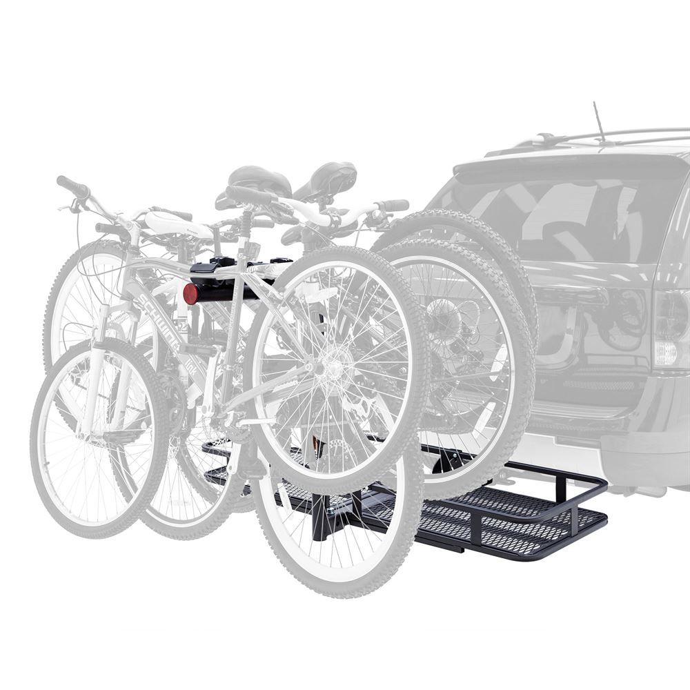 BCCB-1169-4 Elevate Outdoor Steel Basket Cargo Carrier with 4-Bike Rack