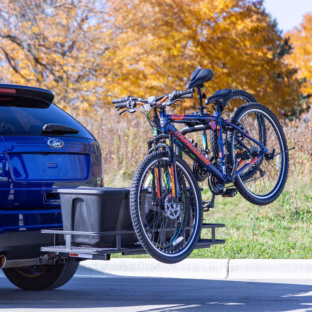 Elevate Outdoor Steel Basket Cargo Carrier with Bike Rack
