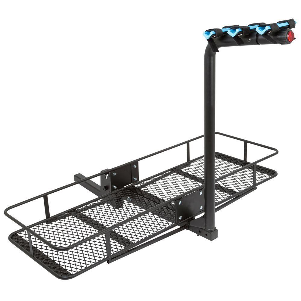 BCCB-BD3 3 Bicycle Apex Steel Basket Cargo Carrier with Bike Rack