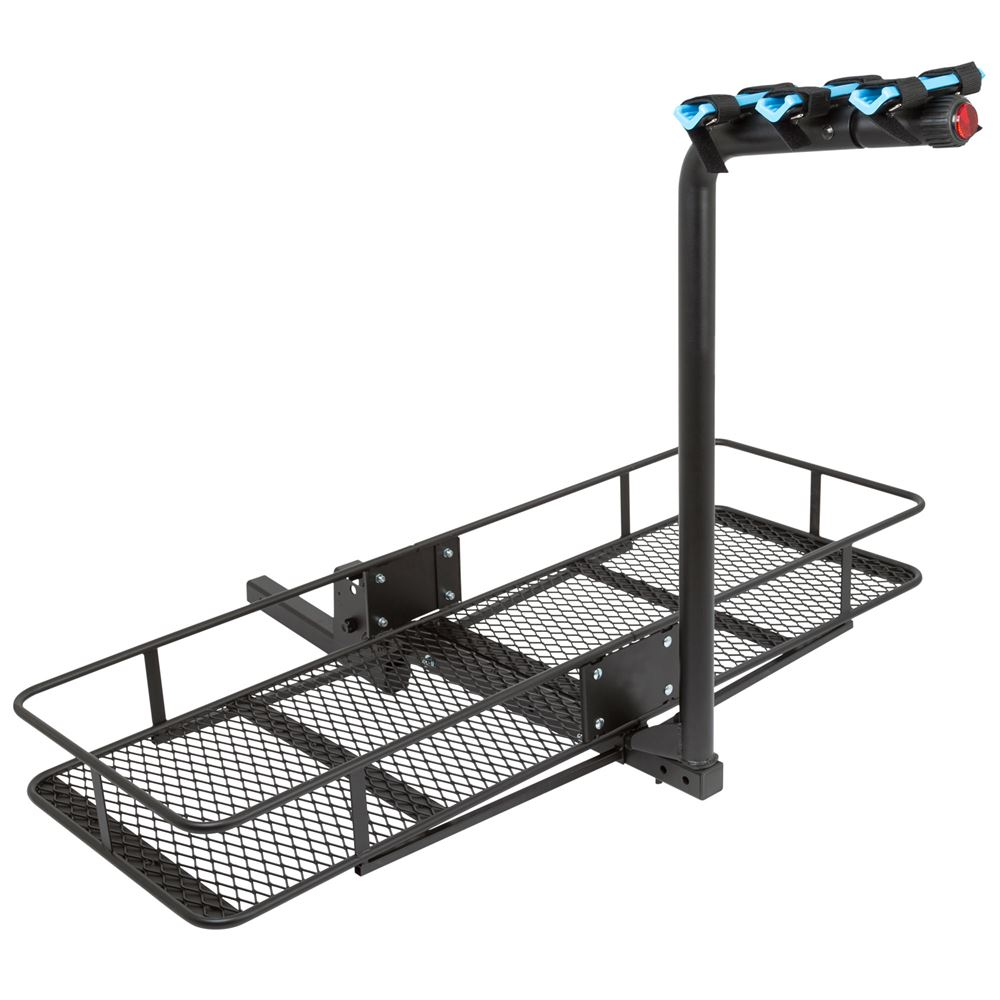 Apex Blue Devil Steel Hitch Bike Racks With Basket Cargo
