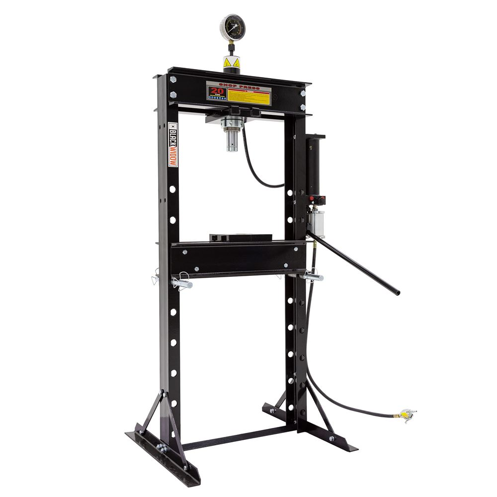 BD-PRESS-20A Black Widow 20 Ton Air-Operated Shop Press