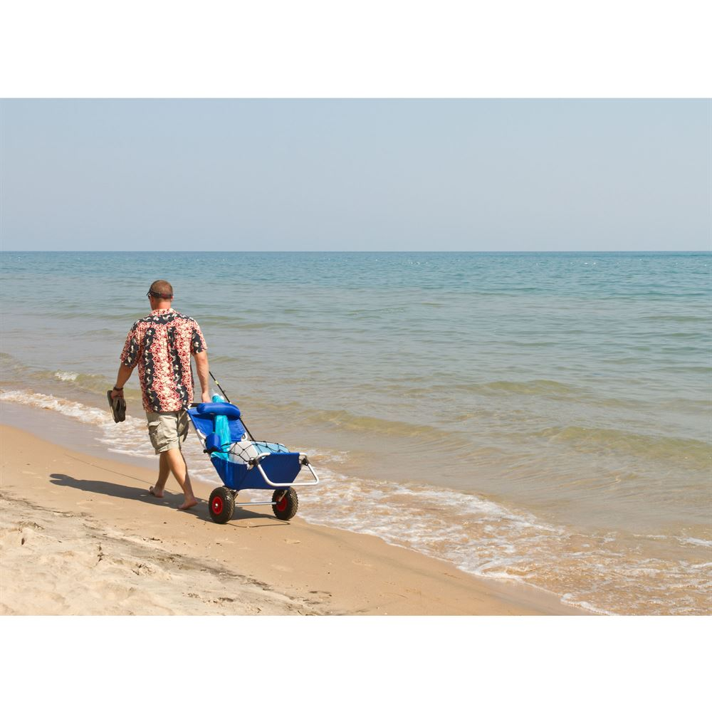 BFC BLUE Blue Folding Beach Fishing Chair Cart 3