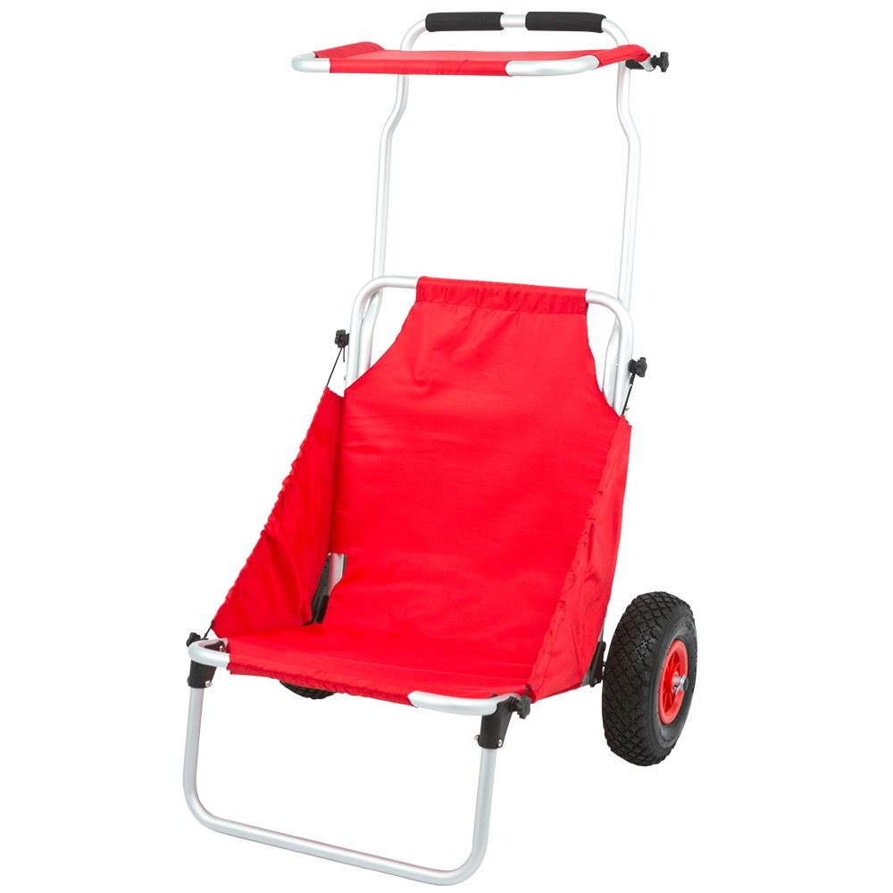 BFC-RED Red Folding Beach Fishing Chair  Cart