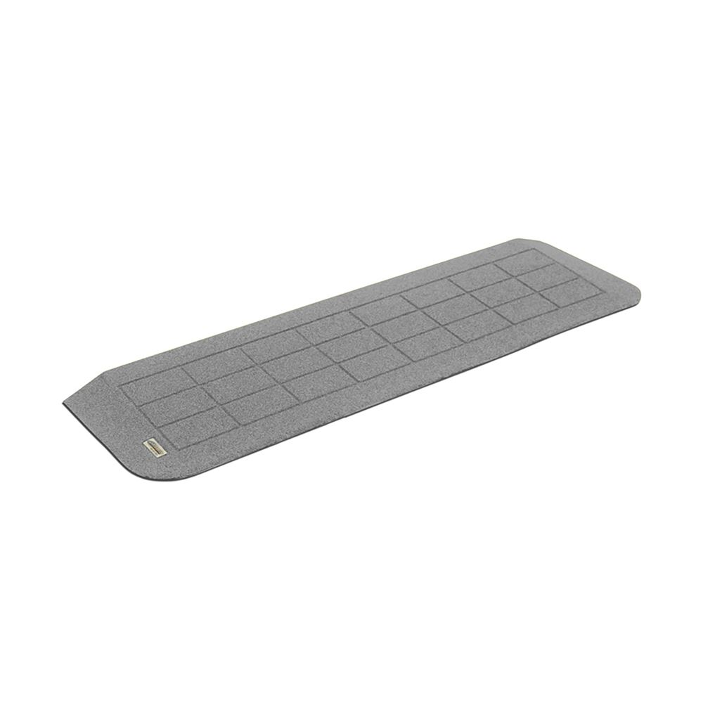 BHR-1110-GREY Granite Gray SafePath BigHorn Plastic Polymer Threshold Ramp - ADA Compliant
