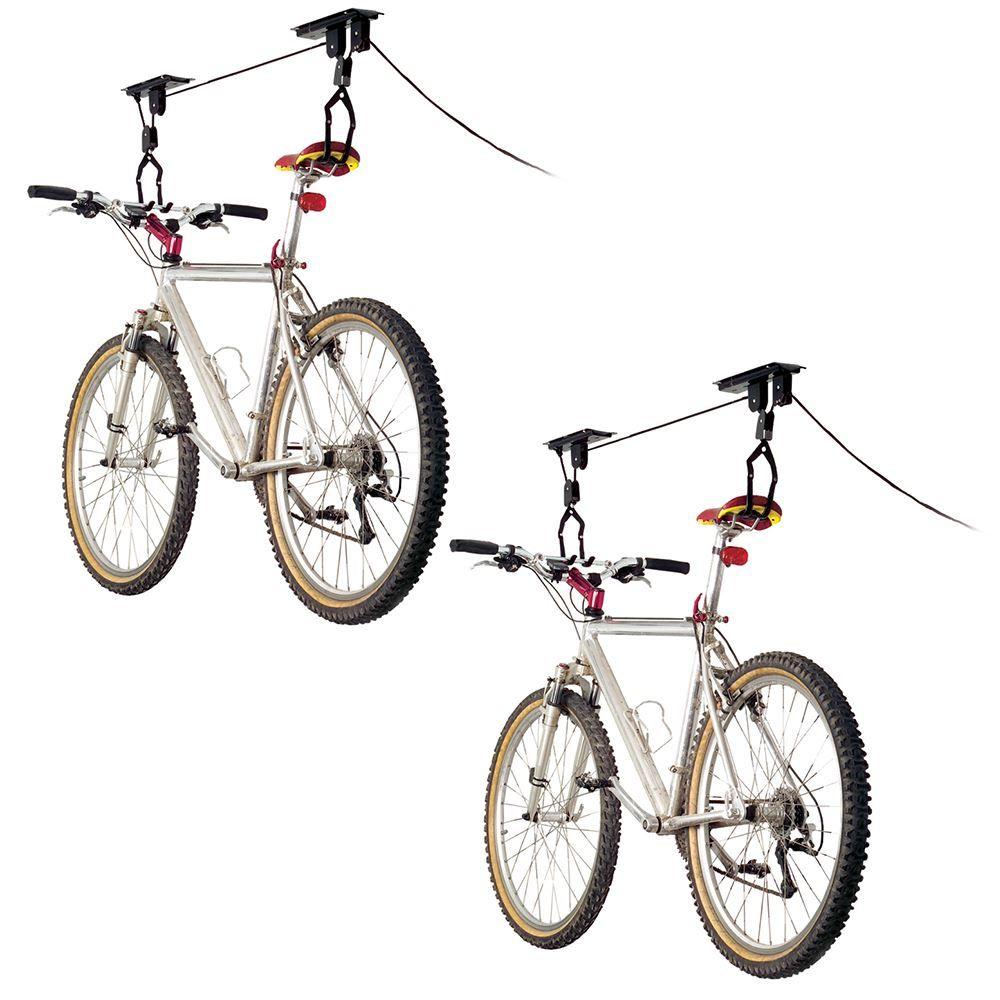 BL-71122-2 2-Bike Elevate Outdoor Ceiling Mount Bicycle Hoist