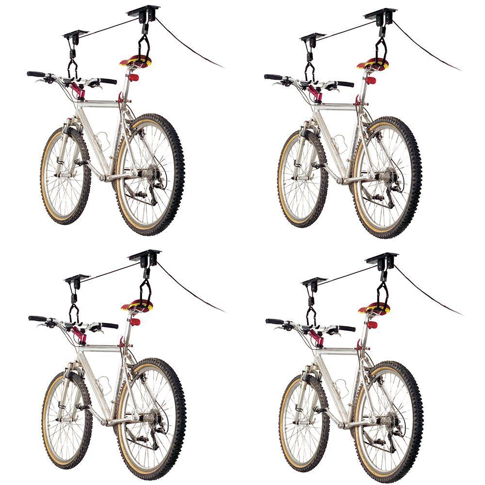 BL-71122-4 4-Bike Elevate Outdoor Ceiling Mount Bicycle Hoist