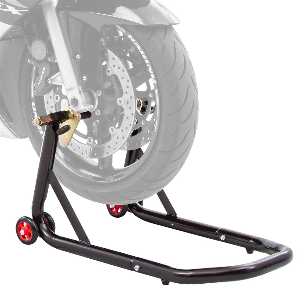 BW-10-V2 Black Widow Prong Motorcycle Front Stand
