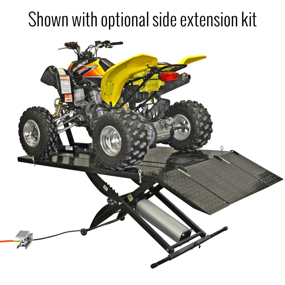 BW-1000A-SIDE Black Widow Motorcycle Lift Side Extension Kit