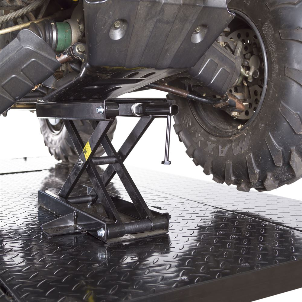 Deals On Oil Changes >> Black Widow Extra Wide Pneumatic ATV Lift Table - 1,000 lbs. Capacity | Discount Ramps