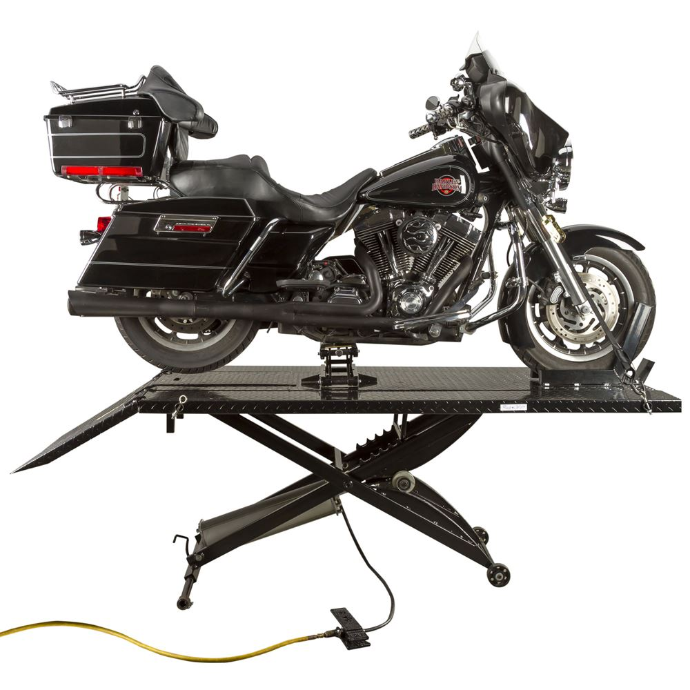 Black Widow Extra Wide Pneumatic Motorcycle Lift Table - 1,000 lb  Capacity