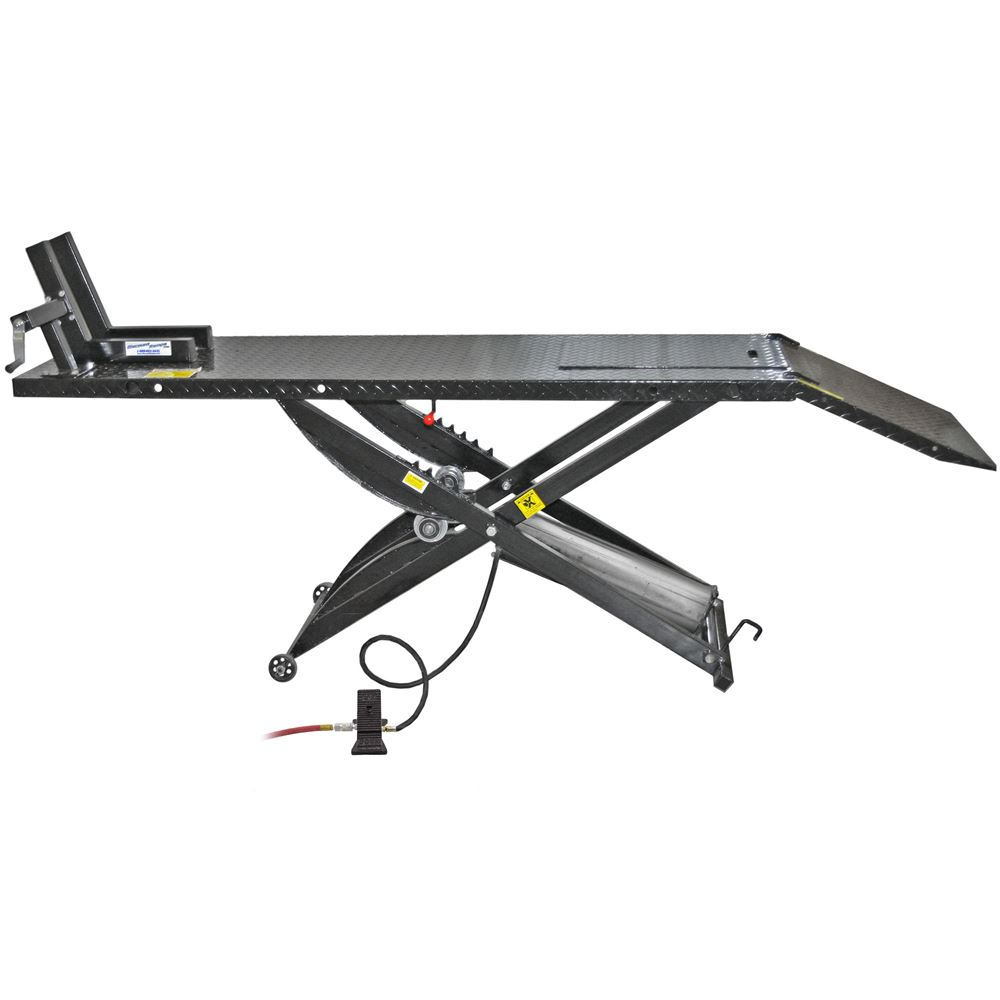 BW-1000A Black Widow Pneumatic Motorcycle Lift Table - 1000 lb Capacity 6