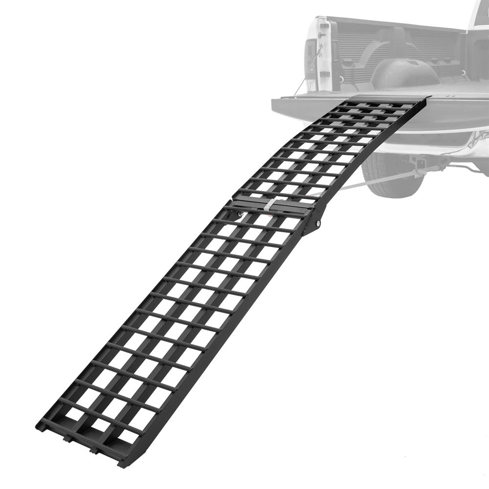 BW-10817-HD 9 Long Black Widow Aluminum 4-Beam Folding Arched Single Runner Motorcycle Ramp
