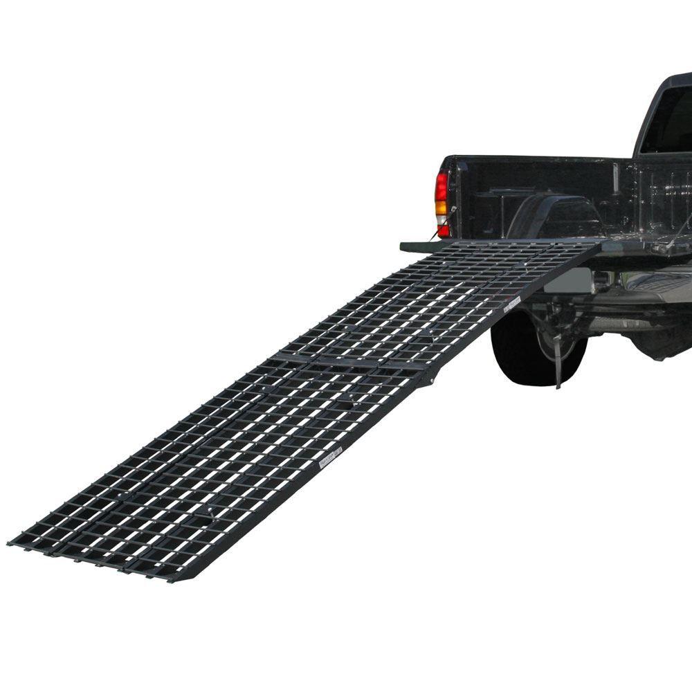 BW-12040-HD 10 Long Black Widow Aluminum Heavy-Duty 4-Beam Folding Arched Motorcycle Ramp