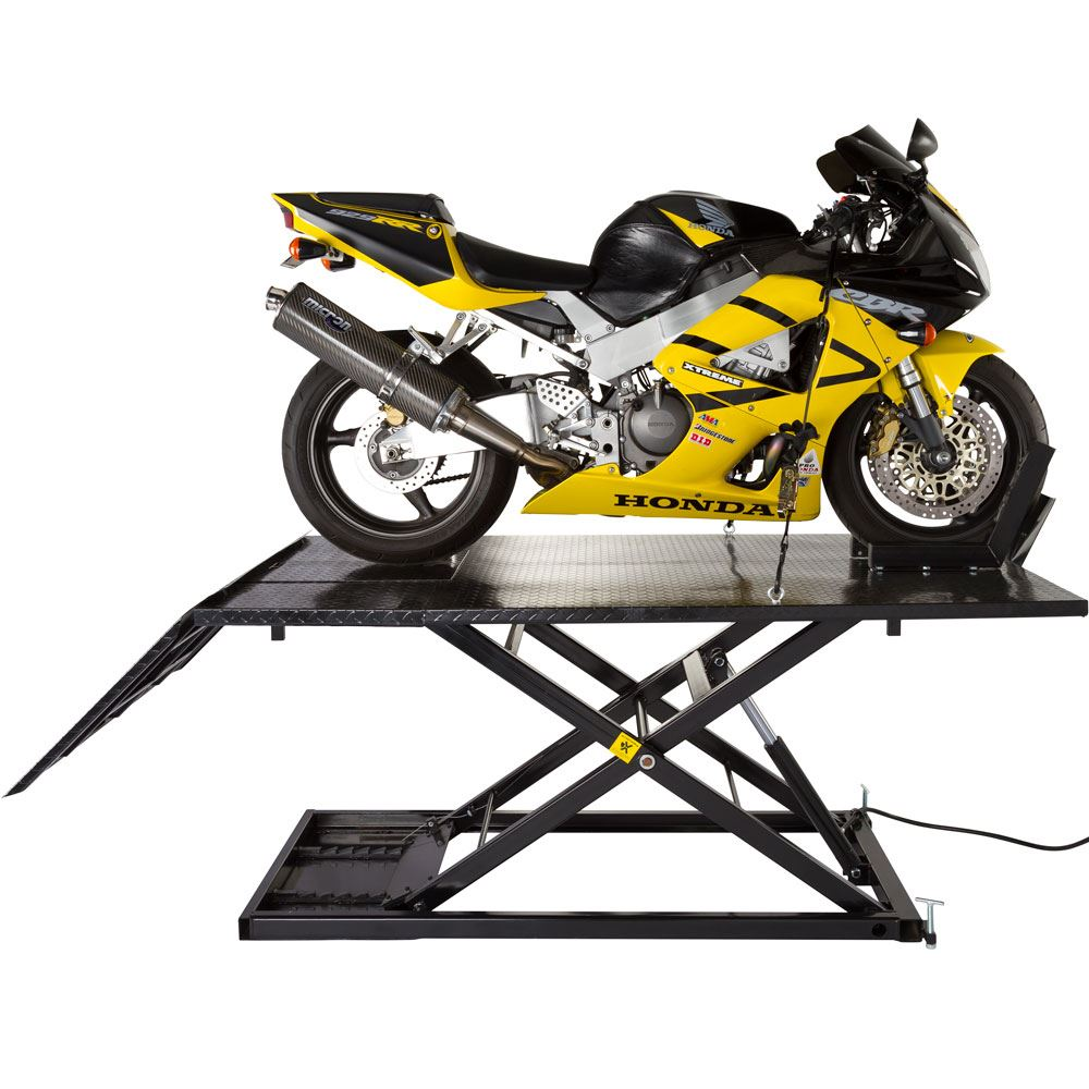 Black Widow Extra Wide Air/Hydraulic Motorcycle Lift - 1,500 lbs ...
