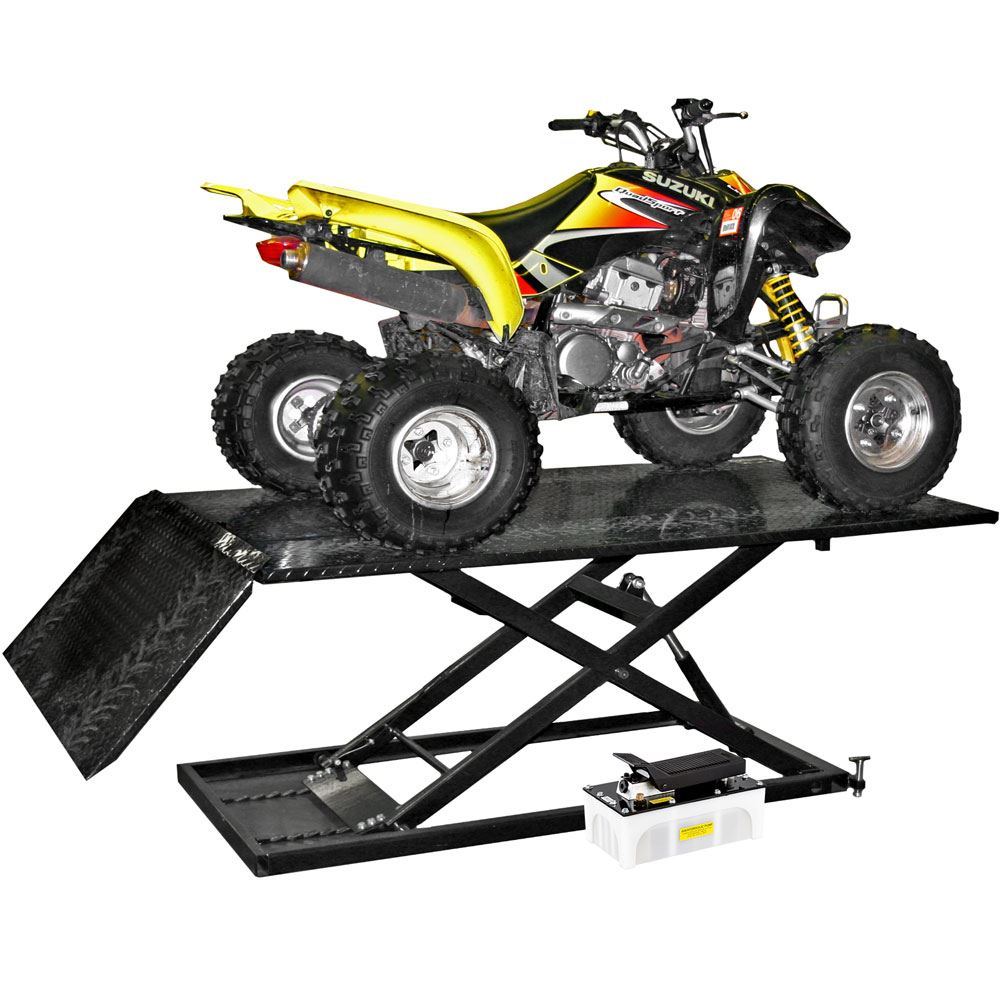 Hydraulic Motorcycle Lift Truck : Black widow air hydraulic atv lift table lbs