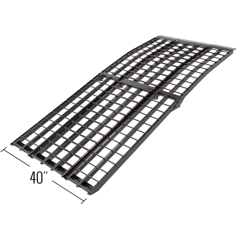BW-40-AMR Black Widow Aluminum 4-Beam Folding Arched 3-Piece Motorcycle Ramp 1