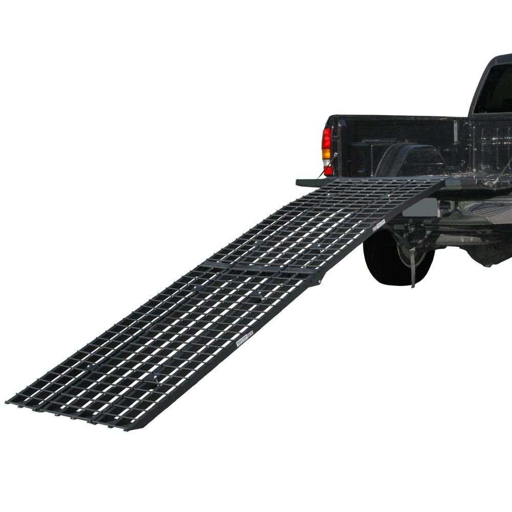 BW-440-AMR Black Widow Aluminum Heavy-Duty 4-Beam Folding Arched Motorcycle Ramp