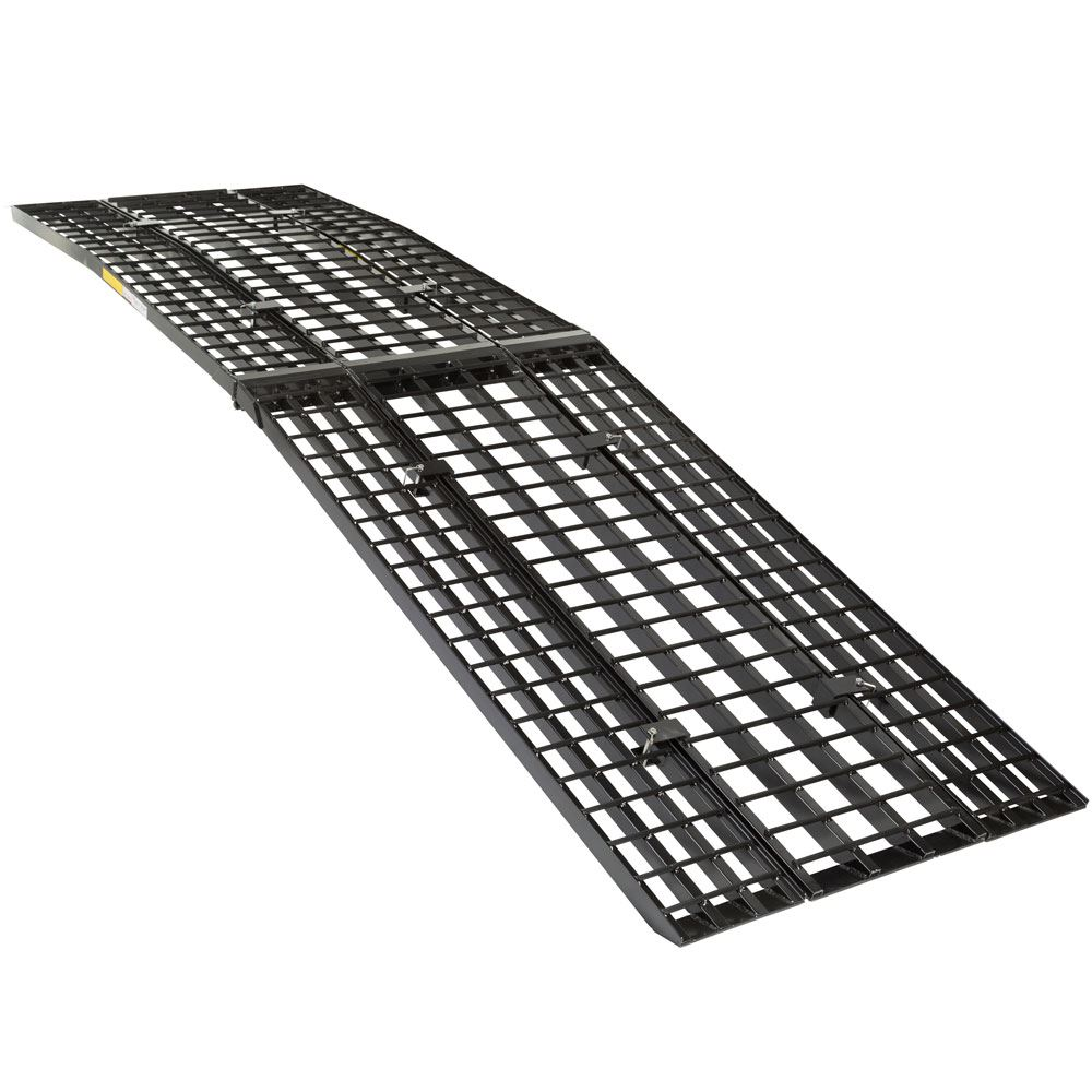 BW-440-AMR Black Widow Aluminum Heavy-Duty 4-Beam Folding Arched Motorcycle Ramp 2