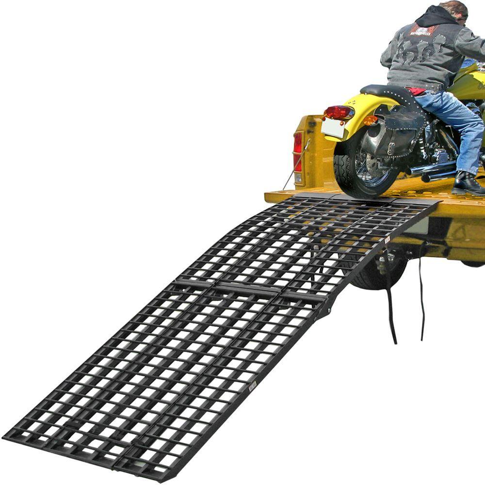 BW-9440-HD 8 Long Black Widow Aluminum 4-Beam Folding Arched 3-Piece Motorcycle Ramp