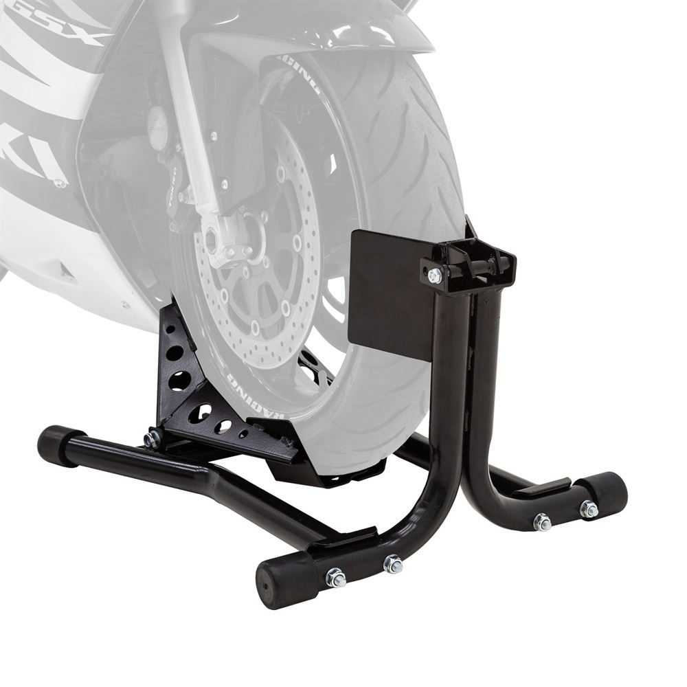 BW-CH-DX1-V2 Black Widow Deluxe Motorcycle Wheel Chock