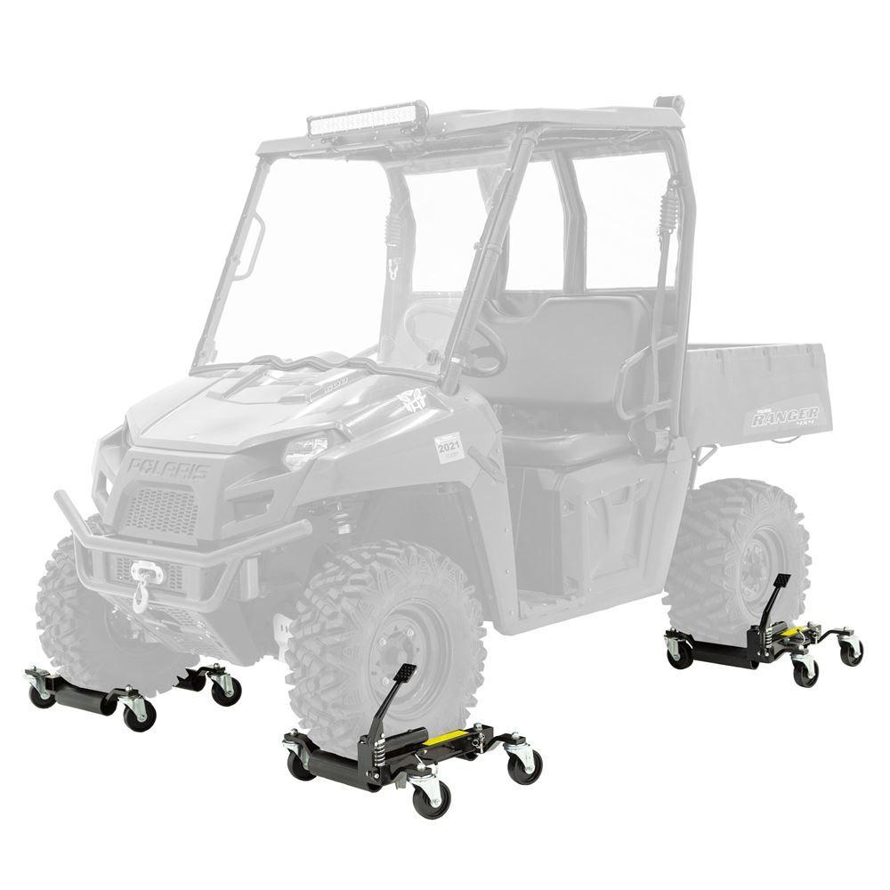 BW-CJD-4 Black Widow Steel Hydraulic Jack  Wheel Dolly  1500 lb Capacity  4 Pack