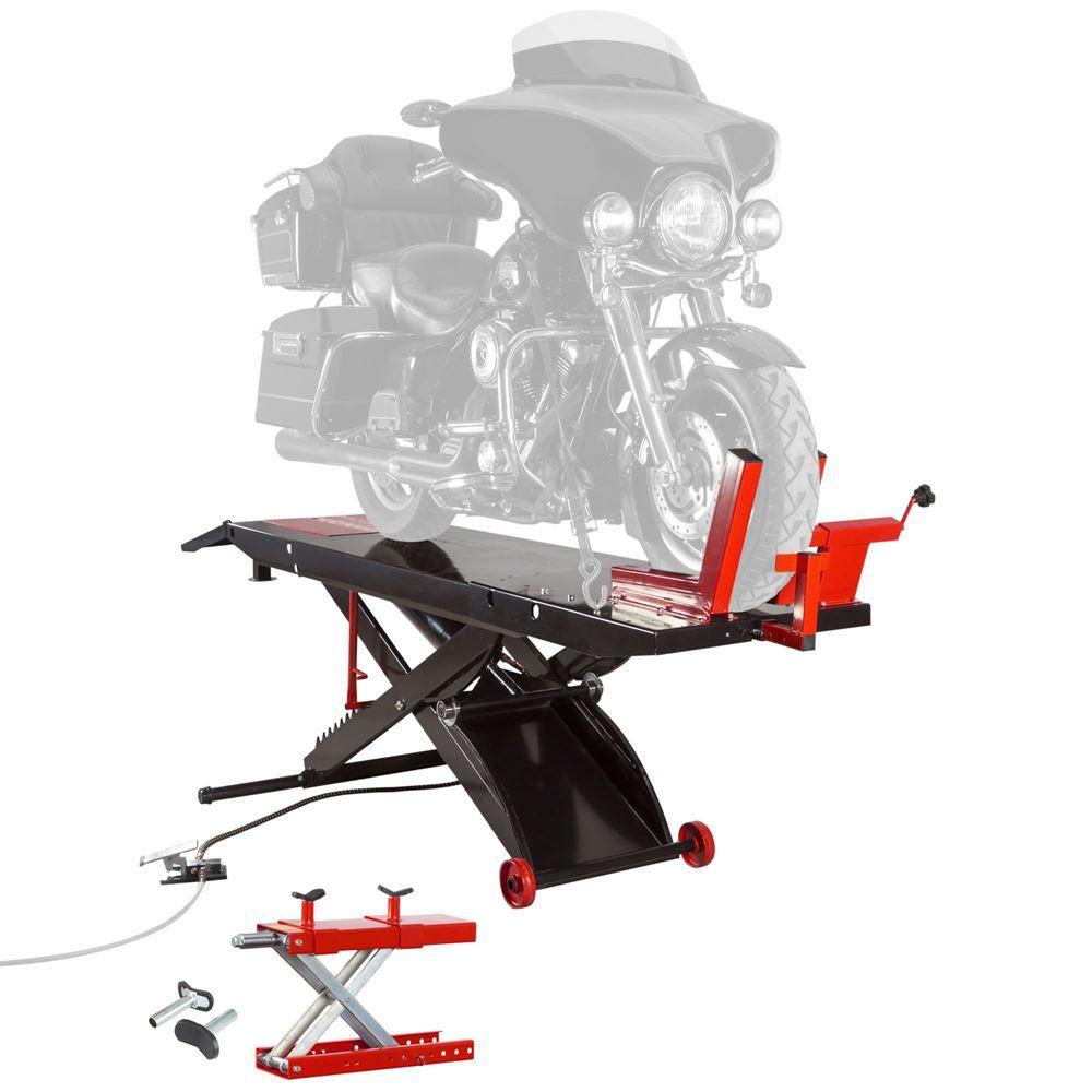 BW-PROLIFT-HD Black Widow ProLift Heavy-Duty AirHydraulic Motorcycle Lift Table - 1500 lb Capacity