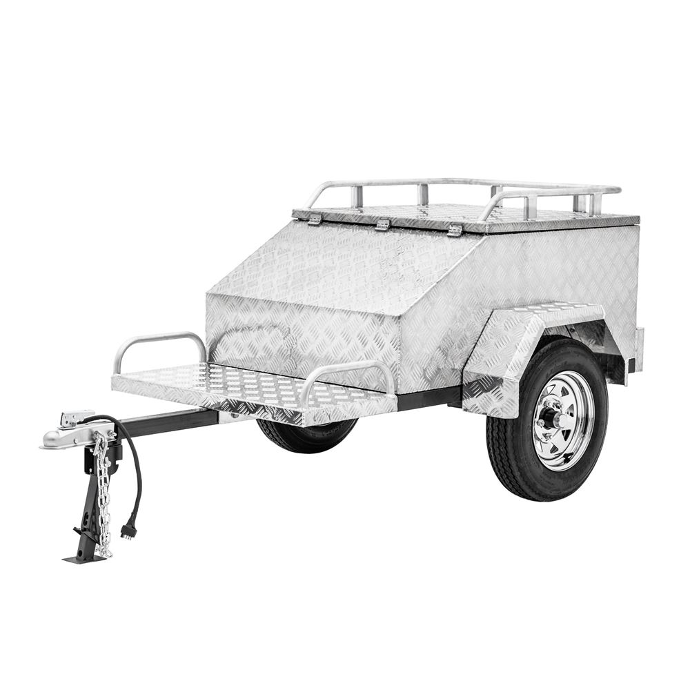 BW-TBMT-DP Black Widow Pull Behind Motorcycle Cargo Trailer  600 lb Capacity